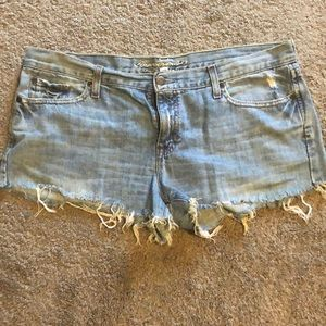 Cutoff Abercrombie and Fitch shorts
